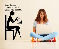 Dear Karma, I have a list of people you missed. Funny Wall Sticker