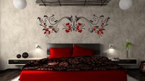 Dangling huge flowers Wall Decoration