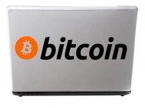 Bitcoin logo - wall / laptop / car / shop sticker