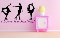 'I love ice skating' - Girls / Kids Room Large Wall Decor