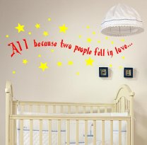 All because two people fell in love... Wall Sticker