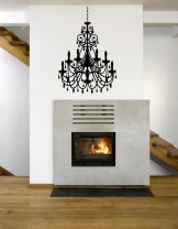 Stylish Chandelier - Large Wall Decoration