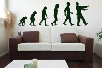 Evolution - Zombie - Large Wall Sticker
