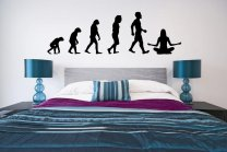 Evolution - Joga / Meditation - Amazing Wall Decal