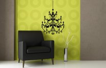 Ornamental Chandelier - Lovely Wall Sticker