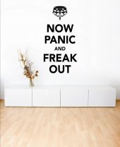 Now Panic And Freak Out - Vinyl Wall / Car Sticker