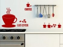Cafe Center - Large Wall Decal - Perfect for restaurant / cafe shop / kitchen etc