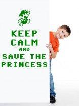 'Keep calm and save the princess' -  Amusing Super Mario Bros Wall Decor