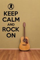 'Keep calm and rock on' - Great Wall Decoration