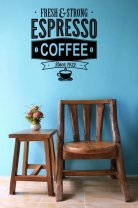 'Fresh and Strong Espresso Coffee' - Excellent Restaurant / Cafe Decoration