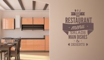 'Restaurant menu' - Large Vinyl Decor