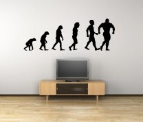 Evolution - Bodybuilder - Huge Wall Sticker