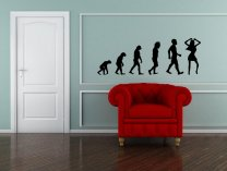 Evolution - Dancer / Dancing Women - Large Vinyl Sticker