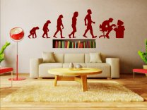 Evolution - Programmer - Huge Wall Sticker