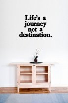 'Life's a journey not a destination' - Wall Quote / Decoration