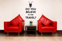 'Do you believe in time travel?' - Donnie Darko Wall Decal