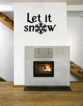 'Let it snow' - Christmas / Festive Vinyl Decoration