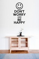 'Don't Worry and Be Happy' - Fantastic Wall / Car Decor
