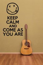 'Keep Calm and Come As You Are' - Fantastic Sticker For Nirvana Fans!