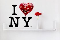 Banksy New Graffiti 2013 - I love NY - Colourful Sticker