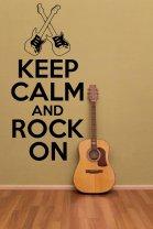 'Keep Calm and Rock On' version 2 - Vinyl Wall Decor