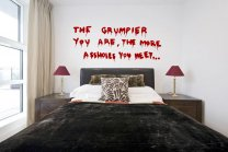Banksy Graffiti 2013 - 'The grumpier you are...' Large Vinyl Decal