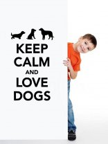 'Keep Calm and Love Dogs' - Lovely Vinyl Sticker