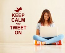 'Keep Calm and Tweet On' - Vinyl Wall Decor