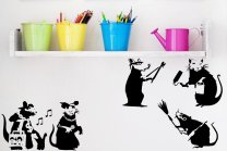 Banksy Large Collection Of Rats Version 3 - Set of 5 Rats