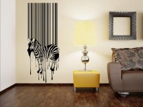 Barcode Zebra - Amazing Art Wall Sticker