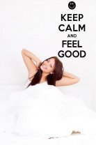 'Keep Calm and Feel Good' - Nice Vinyl Sticker