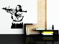 Banksy - Mona Lisa with Bazooka - version 2 enhanced.