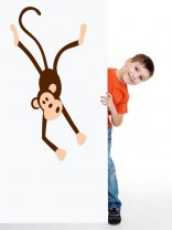 Adorable Monkey - Nursery / Kids Room Vinyl Decal