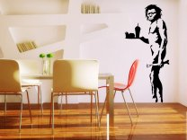 Banksy - Caveman with fast food XL - version 2 enhanced