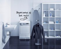 Department of lost socks - Laundry room wall sticker
