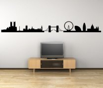London Panorama Silhouette - Giant Wall Decal
