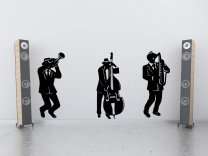 Jazz Band Silhouette - Large Wall Stickers