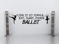 'Life is so simple... Eat, sleep, dance ballet' - Lovely Wall Decal