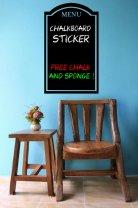 Menu - Chalkboard Sticker With Free Chalk And Sponge