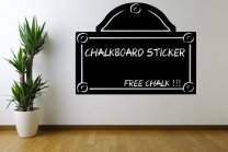Stylish Chalkboard Wall Sticker With Free Chalk And Sponge