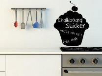 Cupcake Chalkboard - Kitchen / Dining Room Wall Sticker With Free Chalk And Sponge