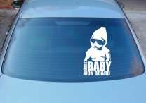 Badass Baby On Board - Funny Car Vinyl Sticker