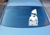 Badass Baby On Board - Funny Car Vinyl Sticker