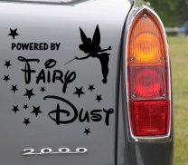 Tinkerbell Powered By Fairydust version 1 - Lovely Car Sticker