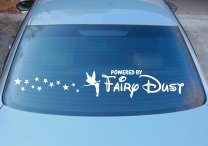 Tinkerbell Powered By Fairydust version 2 - Funny Car Sticker