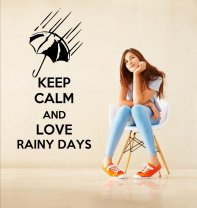 'Keep Calm and Love Rainy Days' - Lovely Vinyl Decoration