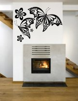 Large Butterflies And Flowers - Fantastic Wall Decal