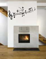 Line Of Musical Notes - Lovely Vinyl Decal