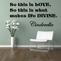 ' So this is LOVE, So this is what makes life divine. ' Cinderella Quote Vinyl W