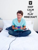 'Keep Calm and Play Minecraft' - Gamer's Room Wall Sticker Decor